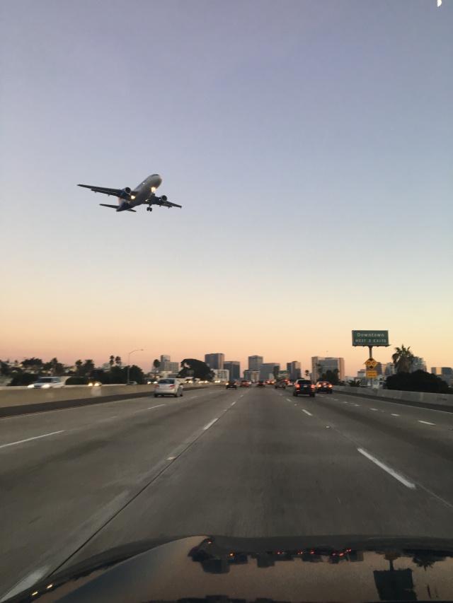plane over highway